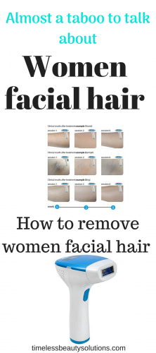 Removing women facial hair