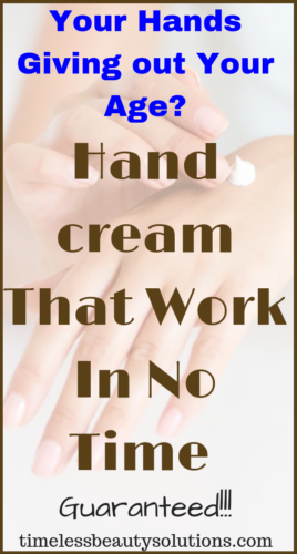 Beauty includes your hands,find the Best anti aging hand cream that work in no time.Many forget of hands when thinking of skin care products.Find the best creams that work in no time to reduce the signs of aging hands.