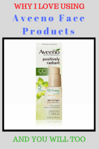 Aveeno facial products