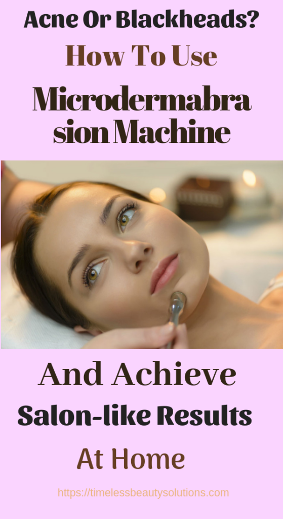 Microdermabrasion machine for acne scars.