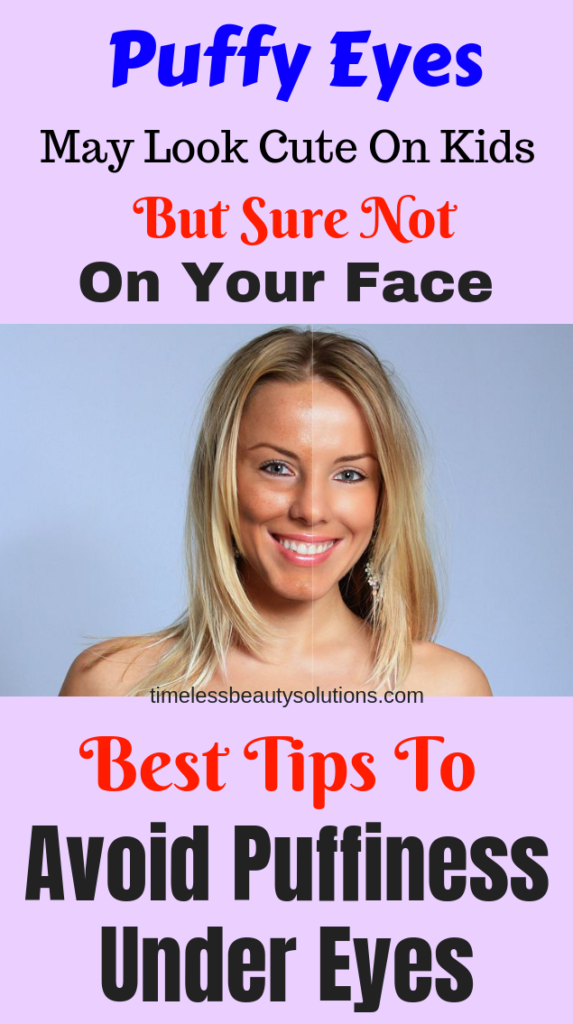 Tips and tricks on how to avoid eye puffiness