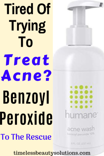 Humane Benzoyl Peroxide face wash is a cleanser