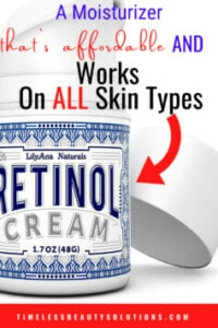 LilyAna Naturals Retinol Cream for Face LilyAna Naturals Retinol Cream for Face greasy and suitable for all skin types.Remove fine lines,sun spots, and wrinkles.The best retinol cream in the market with over 20,000 positive reviews on Amazon